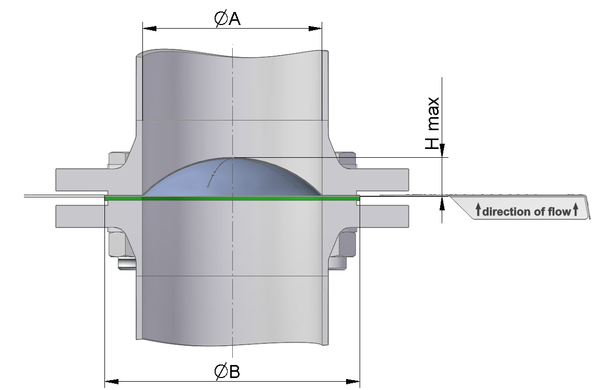 technical drawing rupture disc / bursting disc STAR