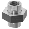 Threaded holder with union nut